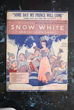 Snow White Score! LOVE.  I wish I had one fromt when my granparents took me to Radio City Music Hall when I was a kid.