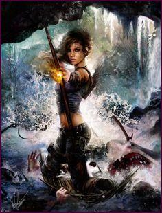 Tomb Raider Game, Lara Croft, Fan Art, Cosplay Tomb Raider Reborn fan made epic illustrations fire arrow Tomb Raider Game, Tomb Raider Lara Croft, Geeks, Rise Of The Tomb, Video Games Girls, Fanart, Fantasy Warrior, Woman Warrior, Before Us