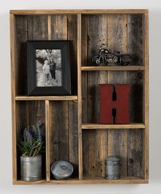 Loving this Industrial Wooden Display Box on #zulily! #zulilyfinds