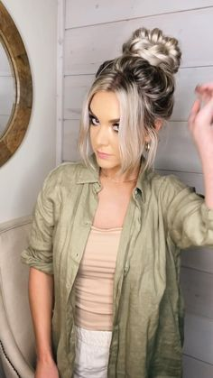 Bun Hairstyles For Long Hair, Work Hairstyles, Easy Updo Thin Hair, Picture Day Hairstyles, Pretty Hairstyles, Casual Braided Hairstyles, Easy Hairstyles For Medium Hair, Braids For Long Hair, Quick Hairstyles