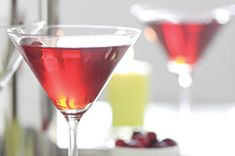 Cran-Raspberry Martinis-This is an easy, delicious and also a healthy, low fat, low cholesterol, low sodium, low carbohydrates, low sugars, diabetic, WeightWatchers (0) PointsPlus recipe. It has No-Fat and No-Cholesterol. Makes 6 servings and a great option for your New Year's and Christmas parties or gatherings. NOTE: This is an alcoholic beverage!
