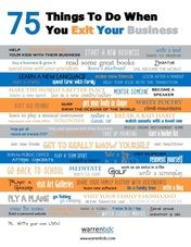 75 things to do when you exit your business