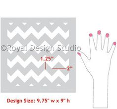 Chevron Furniture Stencil