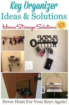 Key Organizer Ideas Solutions Never Misplace Your Keys Again Organizing Clutterorganizing Homeorganizing Ideashome Storage