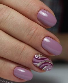 Magenta and lilac wave nails designs fashion Nowadays nail art is the latest fashion trend, therefore, girls should be aware of the latest nail . Lilac Nails, Purple Nail Art, Pink Purple, Purple Nails With Design, Lavender Nails, Fingernail Designs, Gel Nail Designs, Nails Design, French Nails