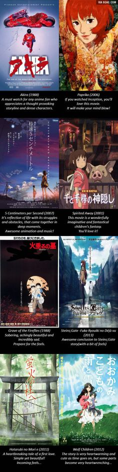 Here's a list of my favorite anime movies that I recommend everyone to watch! (Warning: incoming feels!)