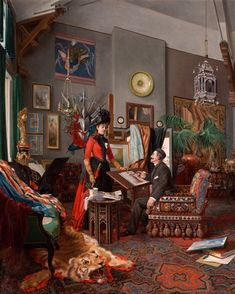 Édouard-Antoine Marsal (French, 1845–1929), In the Artist's Studio, 1889