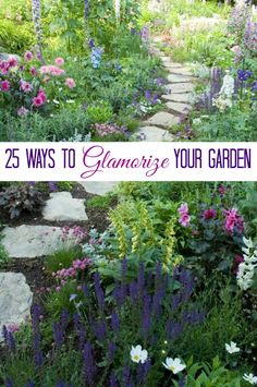With summer on us, I bet you are spending more time in your garden. Here are 25 ways you can add a little vintage glamour to your garden. #gardening #container_gardening