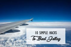 10 Simple Hacks to Beat Jetlag It's summer and it is travel season; long-distance flights across time zones are exciting but on the flip side that sluggish, zombie-like feeling when the jet lag whacks your body clock is pretty unpleasant. Body Clock, Time Zones, Jet Lag, Business Travel, Long Distance, Airplane View, Wander, Beats, Hacks