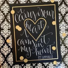 e.e. cummings I Carry Your Heart Print by LJDesignCompany on Etsy, $17.50