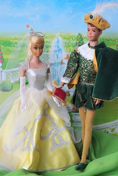 Vintage Swirl Barbie & Allan in Cinderella & The Prince from 1964 by fashiondollcollector, via Flickr