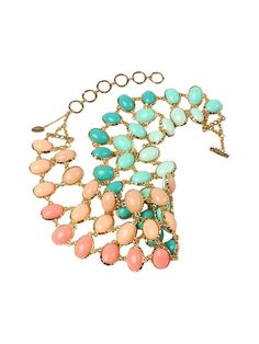 Reversible Cleopatra Ombre Bib Necklace by Amrita Singh at Gilt