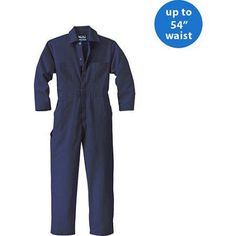 Walls FR - Tall Men's HRC 2 Flame Resistant Contractor Coverall, Blue