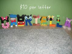 Mickey Mouse Clubhouse Character Letter Art by GunnersNook on Etsy, $10.00
