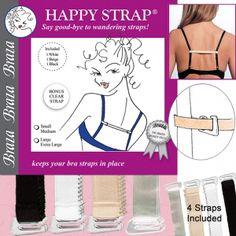 e32c2de4c0 Happy Straps - Assorted bra strap converters Hide Bra Straps