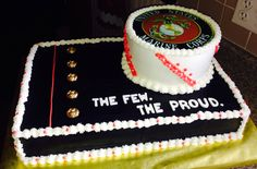 Sweet Cakes, Cute Cakes, Marine Corps Cake, Cheerleading Cake, Deployment Party, Military Cake, Dad Cake, Promotion Party, Retirement Cakes