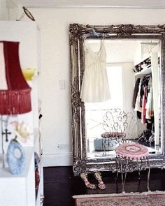 love this mirror for a spare room/closet