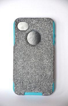 iPhone 4/4s glitter Otterbox Case  Custom  Glitter by NaughtyWoman, $39.99