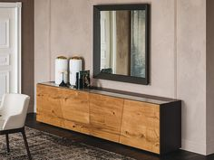 Wooden sideboard with doors EXPLORER by Cattelan Italia design Paolo Cattelan