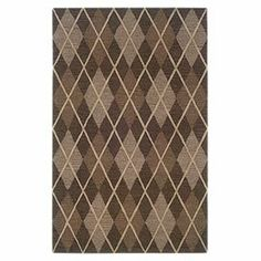 Hand-tufted wool rug with an argyle motif.  Product: RugConstruction Material: WoolColor: Grey and ivoryFeatures:  Hand-tuftedSoft plush pile  Note: Please be aware that actual colors may vary from those shown on your screen. Accent rugs may also not show the entire pattern that the corresponding area rugs have.Cleaning and Care: Vacuum regularly