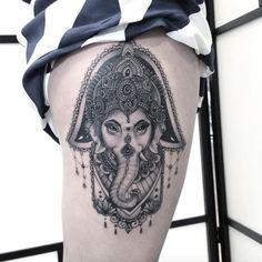 Ganesha hamsa by Flo Nuttall
