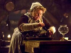 Mrs. Fitzgibbons played by Annette Badland in Outlander