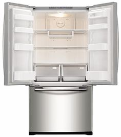"""RF18HFENBSR Samsung 33"""" Wide 18 cu. ft. Capacity Counter Depth French Door Refrigerator - Stainless Steel"""