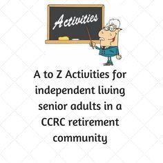 A to Z activities for Activity Directors in independent living retirement communities