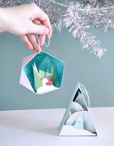Through the Woods DIY Printable Ornaments for Cristmas