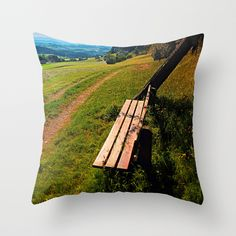The bench and the summer Throw Pillow by patrickjobst Summer Art, Outdoor Blanket, Bench, Throw Pillows, Art Prints, Art Impressions, Toss Pillows, Cushions, Decorative Pillows