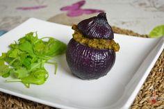 Oignons rouges farcis végétariens via @lolibox