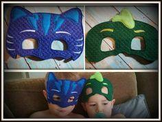 Cat Boy and Iguana PJ Mask Superheros Childrens Felt Play Masks https://www.etsy.com/shop/tamstinyblessingsllc