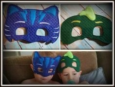 Cat Boy and Iguana PJ Mask Superheros Childrens Felt Play Masks https://www.etsy.com/shop/tamstinyblessingsllc