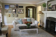 Ten June: Living Room Tweak List: A Gallery Wall