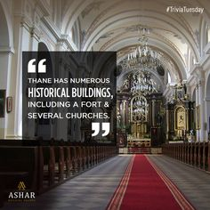 #TriviaTuesday Thane has numerous historical buildings, including a fort & several churches. www.ashar.in #AsharGroup #RealEstate #Thane #Housing #Apartments #Residences