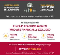 Did you know that 1/3 of FINCA's female clients are their family's primary breadwinners!  Happy International #WomensDay! #MakeItHappen: http://www.finca.org/news/iwd