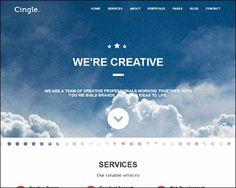 'Cingle' responsive WordPress theme. Een zgn 'one page' template, waarbij alle info op de homepage staat en je via het menu steeds een stukje verder springt. Overzichtelijk en gebruiksvriendelijk, met leuke extra's. $40. Demo & download: http://thememints.com/themes/cingle/#navWrapper