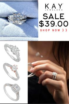 Engagement Ring Buying Guide, Engagement Rings For Men, Unique Rings, Beautiful Rings, Diamond Wedding Bands, Wedding Rings, Pandora Bracelet Charms, Kay Jewelers, Jewelery