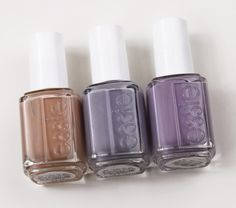 Essie Nail Lacquers in Brooch the Subject, Cocktail Bling, Bangle Jangle