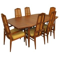 Mid-Century Modern Dining Set by Foster-McDavid | From a unique collection of antique and modern dining room sets at https://www.1stdibs.com/furniture/tables/dining-room-sets/