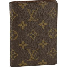 Brown and tan monogram coated canvas Louis Vuitton Porte-Passport Cartes Crédit wallet with brown leather trim, three interior compartments and bifold closure. Louis Vuitton 2017, Louis Vuitton Wallet, Louis Vuitton Handbags, Louis Vuitton Monogram, Lv Handbags, Louis Vuitton Passport Cover, Latest Makeup Trends, Couture, Looks Style