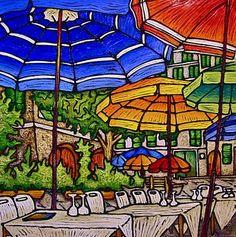 Chrissandra's Art: Painting Two Loves Second Love, Umbrellas, Art Tutorials, Rain, Painting, Inspiration, Biblical Inspiration, Painting Art, Paintings