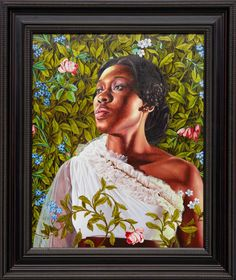 "AN ECONOMY OF GRACE | Kehinde Wiley Studio  AN ECONOMY OF GRACE DACIA CARTER, 2012  OIL ON CANVAS 30"" X 24"""