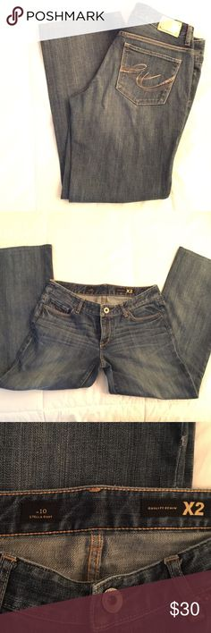 Express Quality Denim X2 Stella Boot Jeans Stella Boot Jeans Size: w10 gold X2 logo on back. Express Pants Boot Cut & Flare