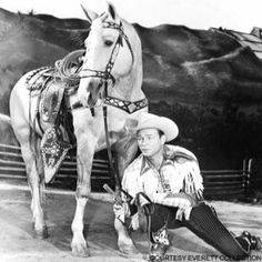 The King of the Cowboys, Roy Rogers  and his horse, Trigger