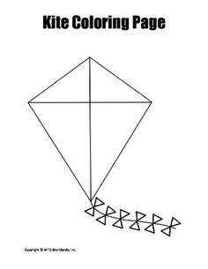 This coloring page featuring a kite image is perfect for lessons and activities about kites. Those needing a kite themed sponge activity or printable will find this resource helpful. This coloring page printable can also be used to decorate learning logs, enhance flannel board presentations or even as a report or book cover decoration.