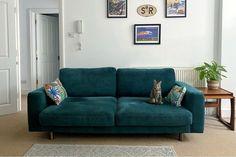 Self Assembly Sofa, Living Room Sofa, Living Room Decor, Corner Sofa And Footstool, Minimal House Design, Teal Sofa, Apartment Sofa, Apartment Ideas, Big Chill