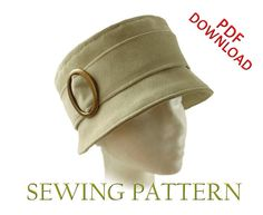 SEWING PATTERN - Joan, 1960's/modern bucket cloche hat for Child or Adult