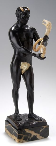 HEINRICH HOFFMANN, Berlin, Pan with Cobra, c. 1910