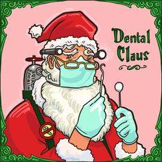 Meet Dental Claus - He knows if you've been flossing.or if you've been naughty. Dental World, Dental Life, Medical Dental, Dental Health, Dental Assistant Humor, Dentist Humor, Dental Hygienist, Nurse Humor, Dental Humour